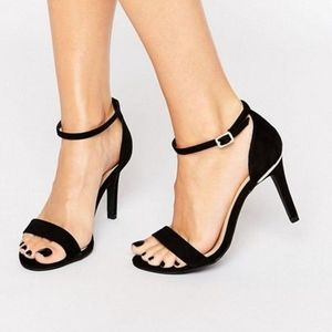 ASOS New Look Barely There Sandals black 7 wide